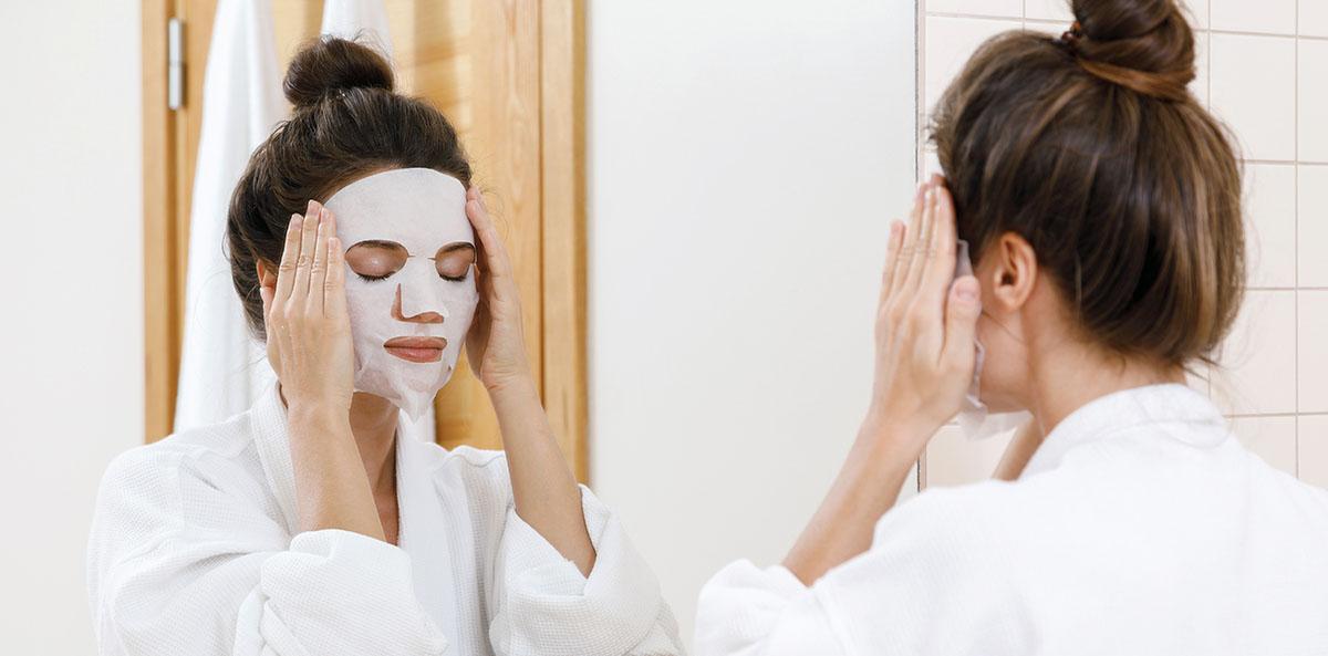 Sheet mask -kangasnaamiot tuoteosasto