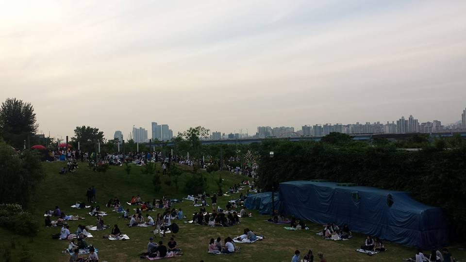 Yeouido Han River -puisto piknik